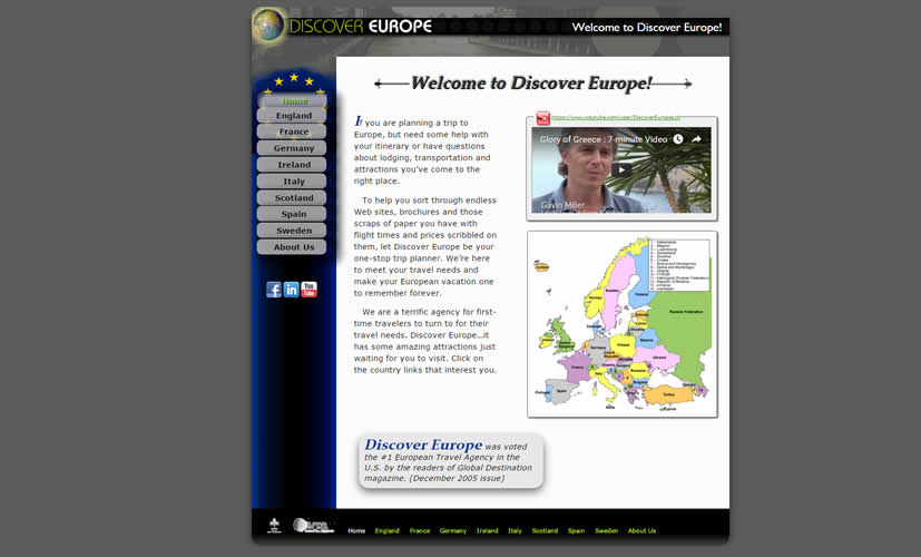 Discover Europe Travel Site