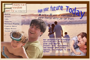 Front Page for Financial Freedom Family site 1